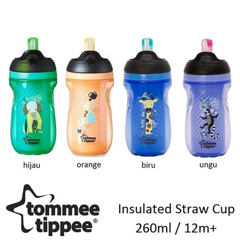 Botol Minum Tommee Tippee Insulated Straw Cup 260ml tommee tippee straw cup 12m insulated