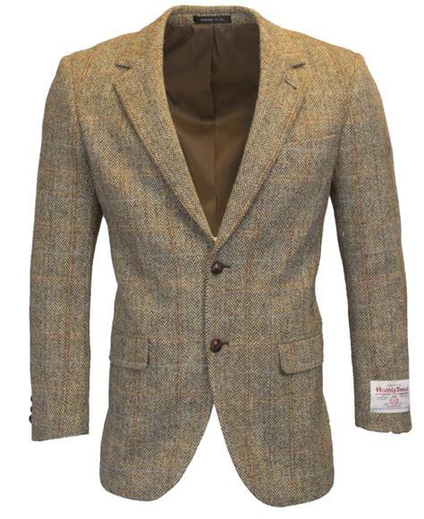Button Veste Blazer Vest Jaket Outer Wanita White mens classic scottish harris tweed herringbone overcheck country blazer jacket genuine leather