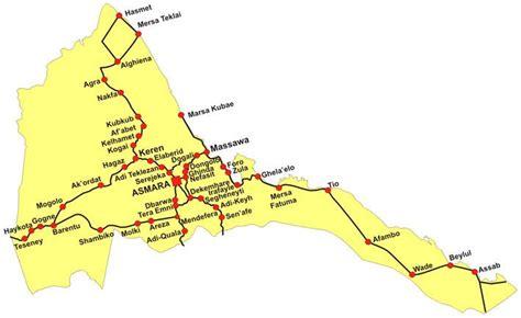 eritrea map eritrea maps