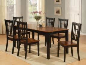 Furniture Kitchen Tables Dinette Kitchen Dining Room Set 7pc Table And 6 Chairs Ebay