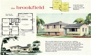 1960 modern style tri level home plan the brookfield