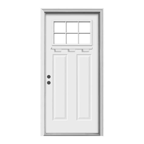 Jeld Wen Exterior Door by Jeld Wen 36 In X 80 In 6 Lite Craftsman Primed Steel
