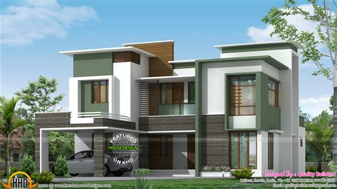 3 bhk flat roof contemporary house kerala home design and floor plans flat roof one storey modern homes modern house