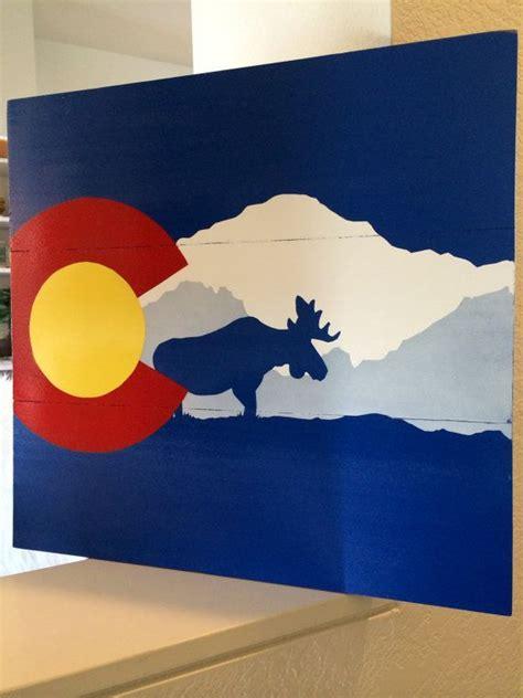 handmade colorado flag wall art pikes peakmoose etsy