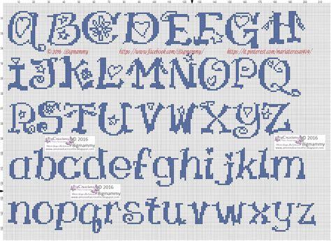 punto croce lettere alfabeto amorevitacrocette ancora tanti alfabeti a punto croce