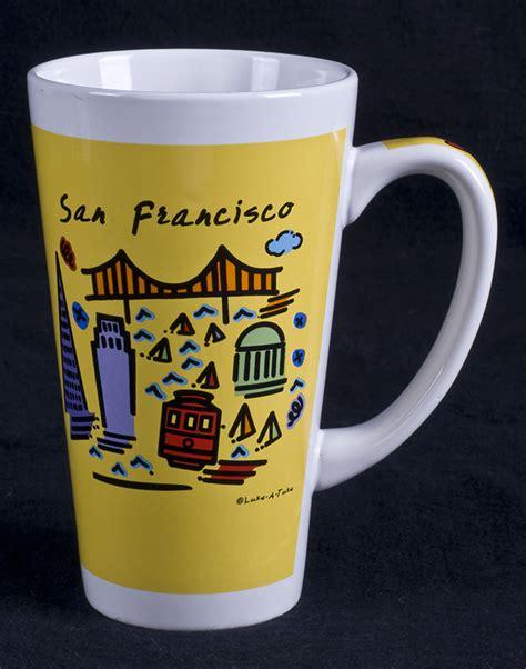 Le Chat Noir Boutique: Luke a Tuke SAN FRANCISCO Tall Cappuccino Coffee Mug, Misc. Coffee Mugs