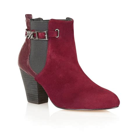 buy ravel kentucky ankle boots in burgundy