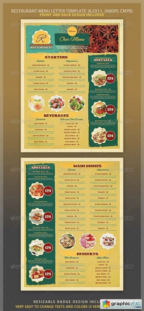 restaurant menu template 4057527 187 free vector