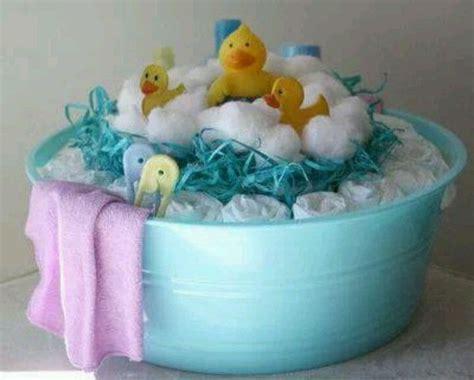 bathtub baby shower gift diaper cake baby shower pinterest