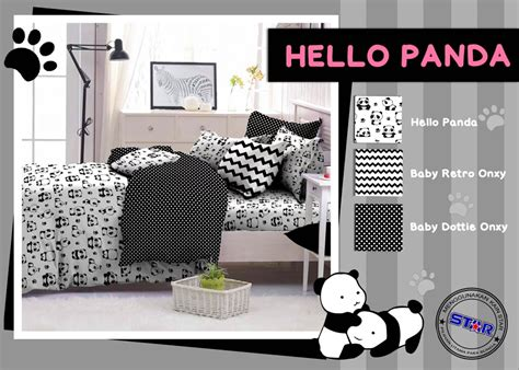 Sprei Single Motif Panda grosir sprei bedcover sarung kasur murah santoso bedding desember 2016