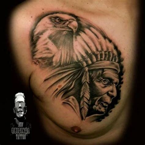 tattoo eagle indian realistic chest eagle indian tattoo by original tattoo