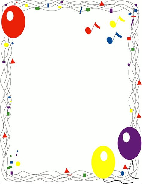 balloon border template free 15 best border templates psd designs free premium