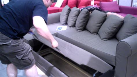 davenport ii pull up sofa bed cool pull out couch ikea youtube