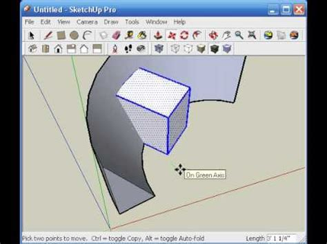sketchup tutorial advanced architectionary sketchup intersect with model tutorial