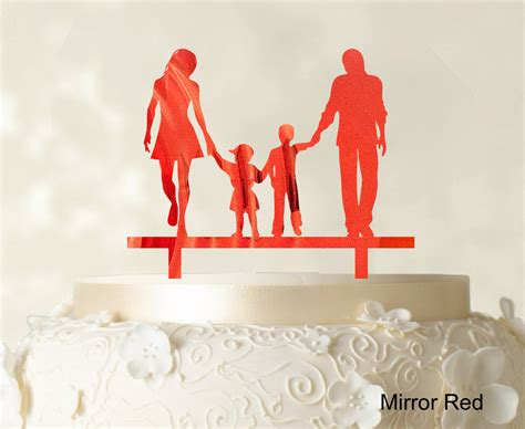 wedding cake topper with child wedding cake topper with children family silhouette cake