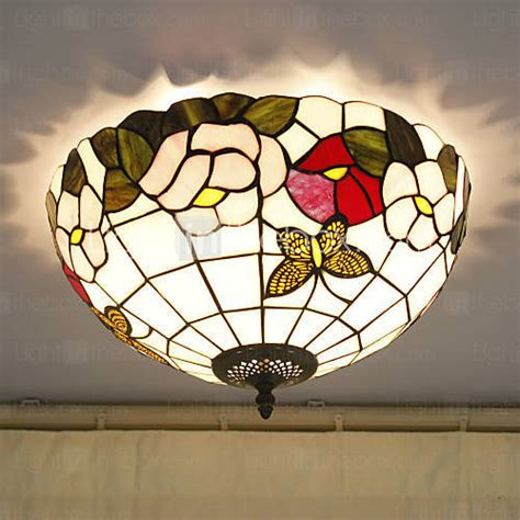 16 Inch Tiffany Style Stained Glass Ceiling Lights Flower Ceiling Lights Stained Glass