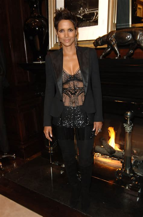 Halle Berry Gets On Knees For A by Halle Berry Knee High Boots Halle Berry Looks Stylebistro