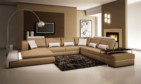 stylish sectional sofas divani casa 5029 modern leather sectional sofa