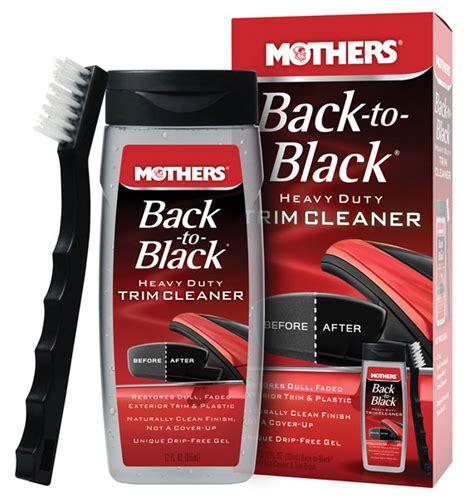 Back To Black Plastic Trim Restorer 250ml mothers back to black heavy duty trim cleaner kit pegasus auto racing supplies