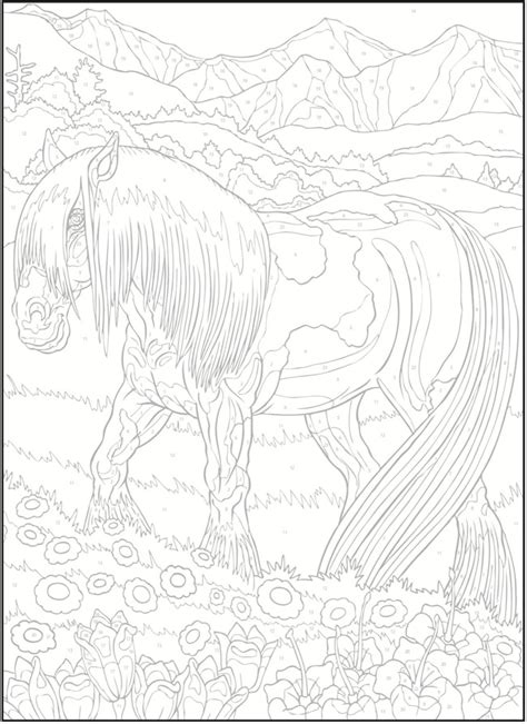 horse coloring pages by numbers creative haven horses color by number coloring book