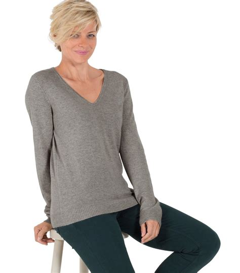 Hoodie Jumper Rebel8 Grey woolovers womens new v neck jumper sweater knitted ebay