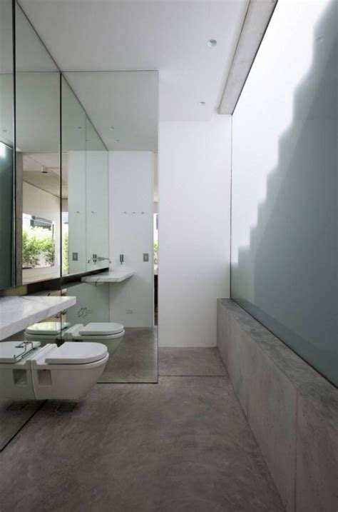 cement floor bathroom small bathroom design concrete decosee