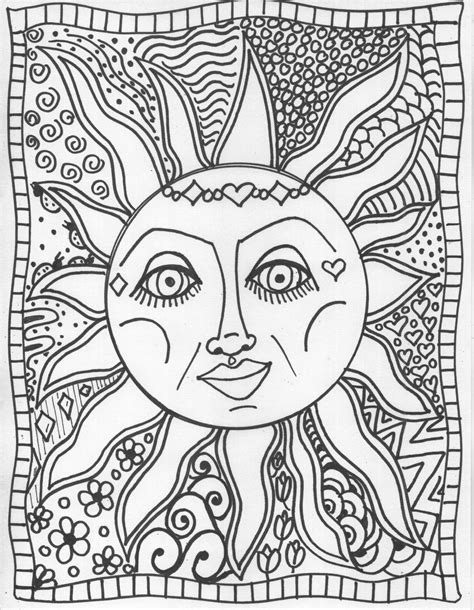 trippy coloring pages selfcoloringpages com