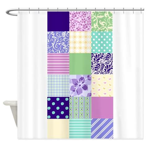 Girly Shower Curtains Girly Pattern Squares Shower Curtain By Inspirationzstore