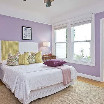 Lavender And Yellow Bedroom by Lavender Walls Design Ideas
