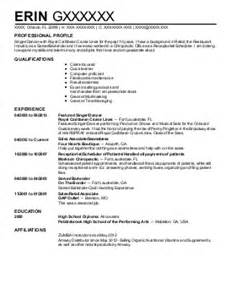 intern production assistant resume exle dan s house