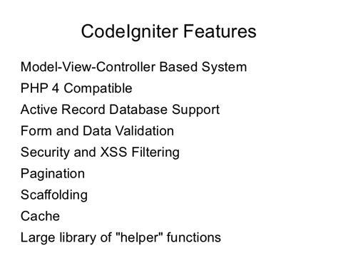 install php tutorial 5 mvc framework codeigniter codebringer codeigniter php mvc framework