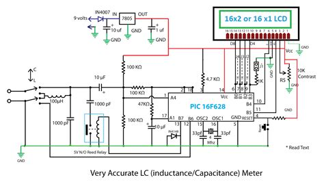 circuit diagram of inductance meter embedded engineering accurate lc inductance capacitance meter