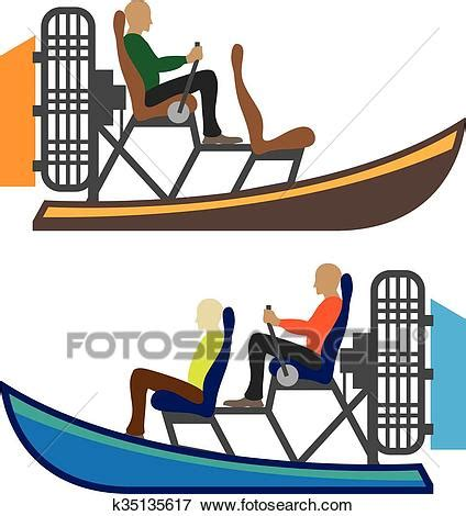 airboat drawing clip art of airboat k35135617 search clipart
