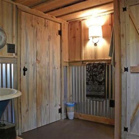 Bathroom Tin Walls Corrugated Tin Shower Wall Bathroom Cabin Ideas
