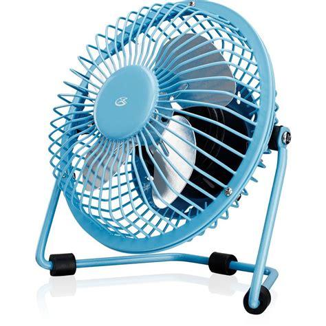home depot desk fan gpx 4 in usb desk fan in blue au25bu the home depot