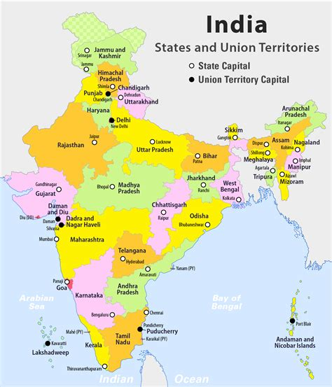 indian states states and union territories of india wikiwand