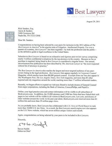 lawyer letter aaron sanders law