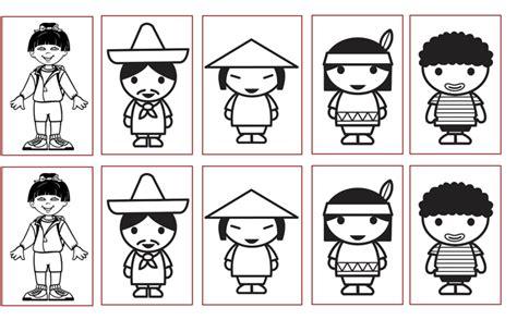 imagenes para colorear sobre la diversidad cultural infantic el respeto por la diversidad
