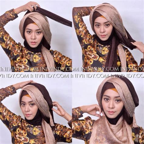 tutorial hijab wisuda yg simple simple hijab pesta tutorial by vindy hafrida foto 2