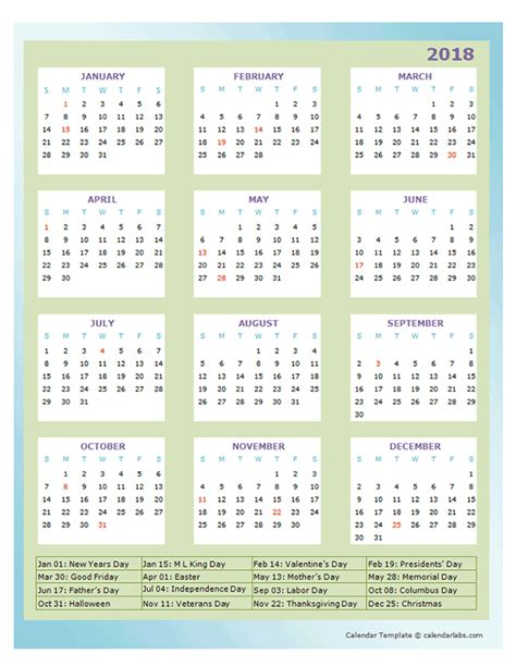 annual calendar design template  printable templates