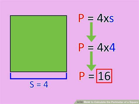 3 ways to calculate the perimeter of a square wikihow