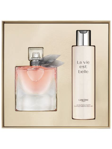lanc 244 me la vie est eau de parfum 50ml fragrance gift set at lewis partners