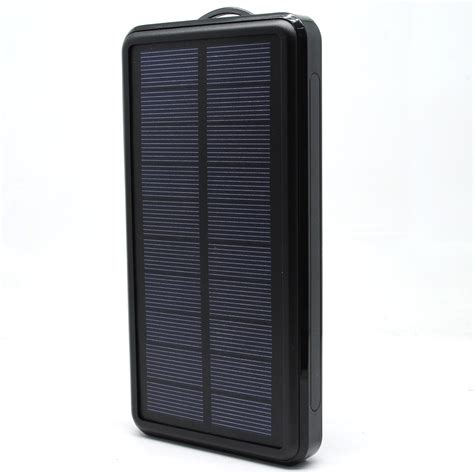 Power Bank Solar Waterproof solar waterproof power bank 20000mah black