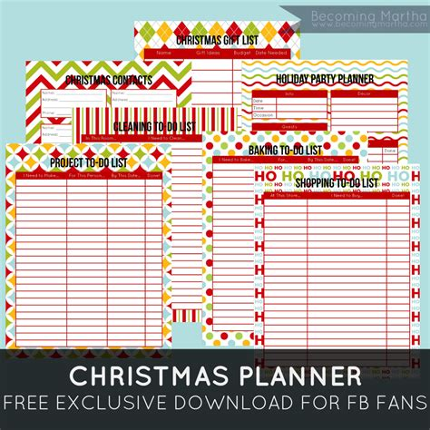 christmas planner free printable becoming martha