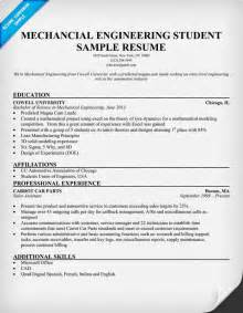 Engineering Resumes Exles by Resume Format For Mechanical Engineering Students Pdf