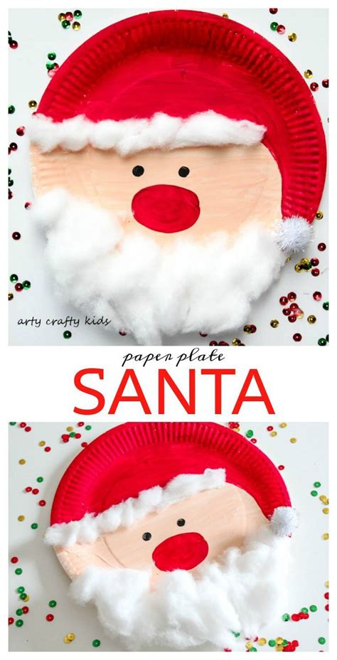 paper plate santa crafty kids crafty and santa