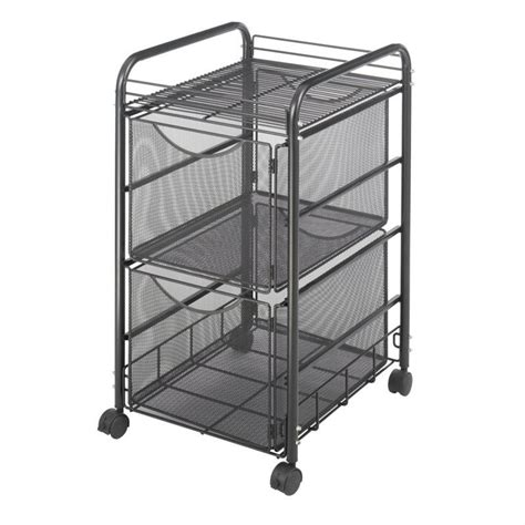 6 drawer mesh rolling cart mesh file cart with 2 file drawers 5212bl