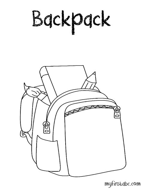 Backpack Printable Coloring Pattern Coloring Coloring Pages Printable Backpack Template