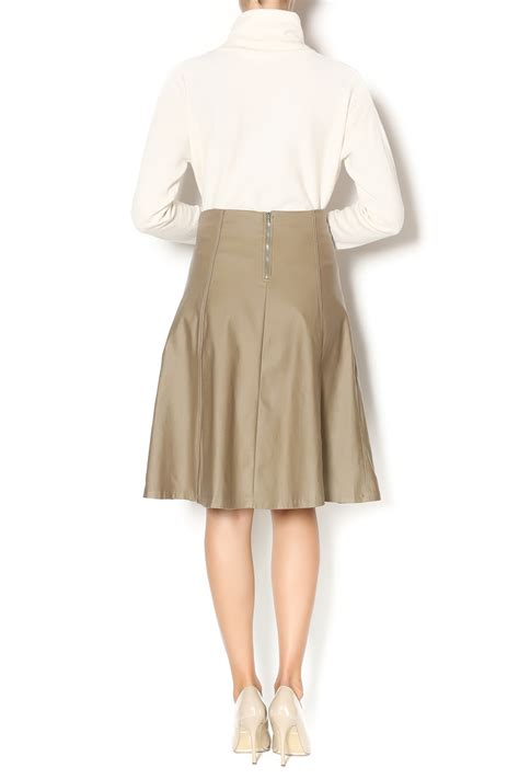 chi chi coated denim skirt from new jersey by covered