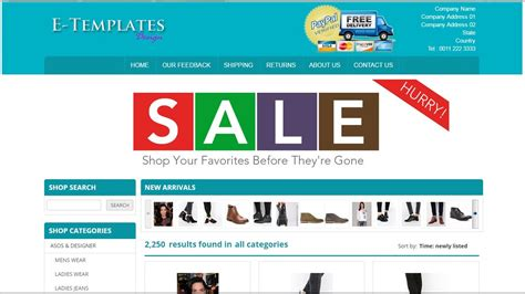 Mobile Responsive Ebay Store Template Youtube Buy Ebay Store Template
